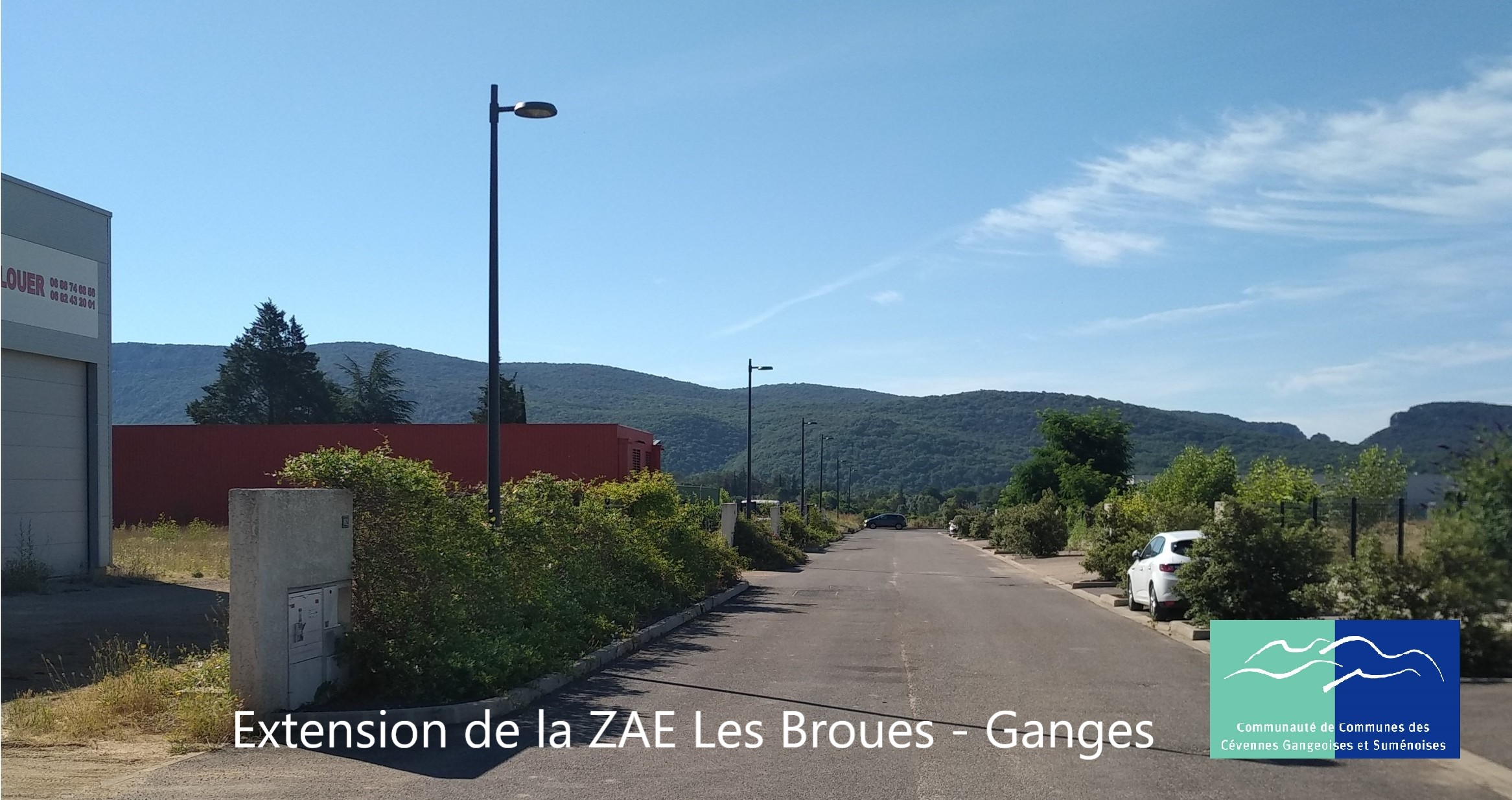 extension de la zae les broues a ganges