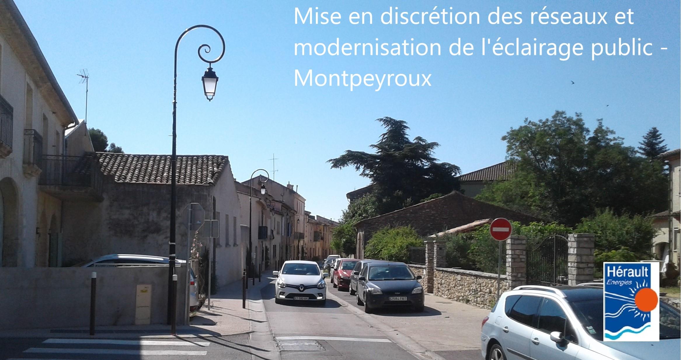 realisation reseaux eclairage public montpeyroux